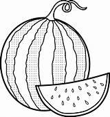 Coloring Watermelon Melancia Melon Printable Tembikai Ausmalbilder Colorir Wassermelone Colorat Pepene Desenhos Desenho Malvorlagen Sakura Sketch Popular Pintar Colorear Mais sketch template