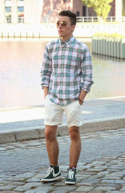 Pin Lookastic Men Look The Day White Shorts