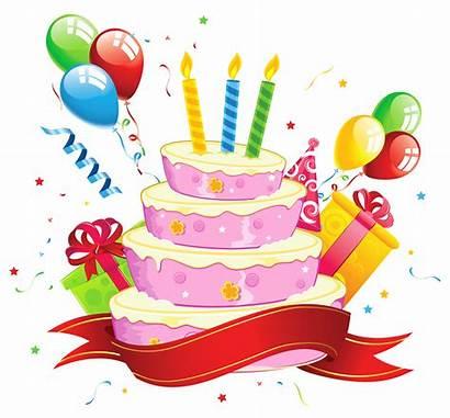 Birthday Happy Cartoon Clipart Cake Transparent