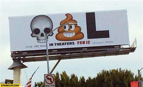 Billboard Meme - deadpool meme billboard ad skull poo letter l starecat com