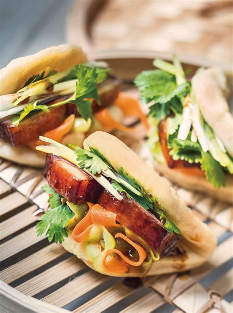 gua bao steamed pork belly buns extract  finger food