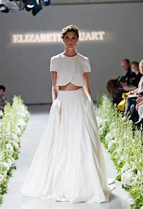 gorgeous crop top wedding dress inspiration bridal musings With top and skirt wedding dress