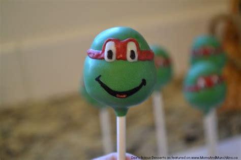 ninja turtle cake pops tutorial moms munchkins