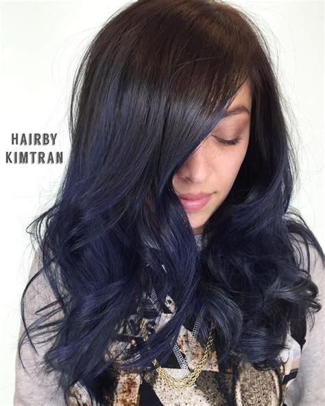 Best 25 Midnight Blue Hair Dye Ideas On Pinterest