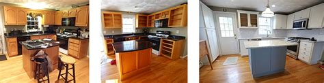 reface kitchen cabinets before and after reface cabinets before after photos affordable