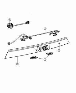 2012 Jeep Grand Cherokee Applique  Handle  License Lamp