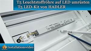 T5 Leuchtstoffröhre Led : t5 leuchtstoffr hre auf led umr sten t5 led kit von hadler youtube ~ Yasmunasinghe.com Haus und Dekorationen