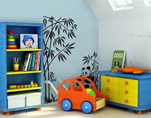 stickers muraux chambre enfant ours panda With chambre bébé design avec fleurs de bach n 58