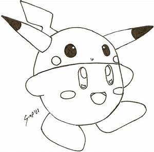 Pikachu Kirby Uncolored By Sora In My Pants On Deviantart