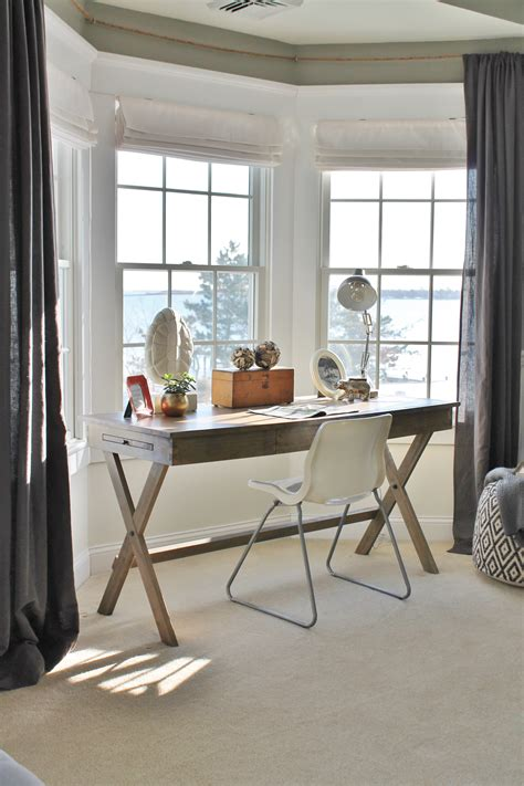 bay window office office area cost plus caign desk ideas and such