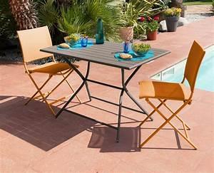 Table De Jardin En Aluminium : table jardin metal couleur bricolage maison et d coration ~ Teatrodelosmanantiales.com Idées de Décoration