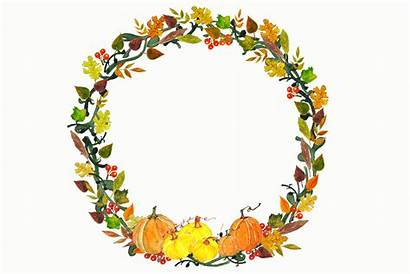 Clipart Wreath Thanksgiving Fall Wreaths Clip Garland
