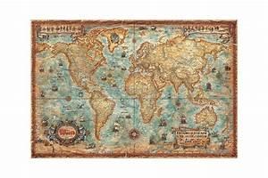 Carte Du Monde Liège : mappemonde vintage ~ Teatrodelosmanantiales.com Idées de Décoration