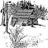Coloring Printable Colouring Cabin Log Lake Printablecolouringpages sketch template
