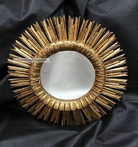 Spiegel Holz Rund : sonnenspiegel spiegel sun mirror 50 er jahre ca 52 cm vergoldet holz ~ Whattoseeinmadrid.com Haus und Dekorationen