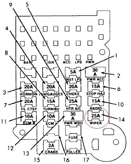 94 Chevy S10 Fuse Box Diagram by Where Is The Fuse Box For The Windshield Wipers On My 93