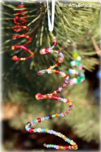 homemade beaded christmas tree ornaments for kids true aim