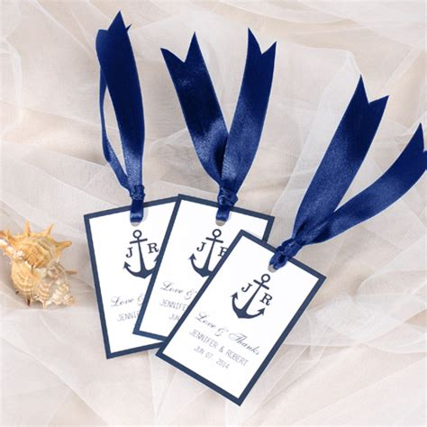 nautical anchor wedding favor tag thank you labels EWFR019 as low as $0.22