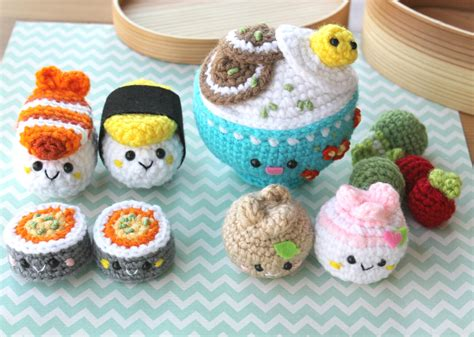 crochet cuisine crochet pattern amigurumi food bento family crochet pattern