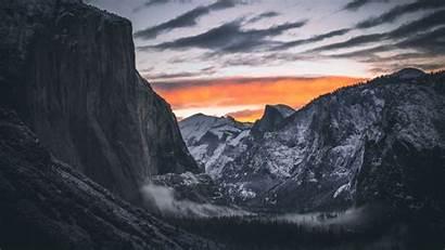 Dark Forest Imac Yosemite Mountain Valley 4k