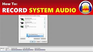 How To  Record System Audio From Your Computer In Audacity
