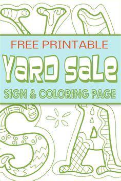 yard sale printables garage sale