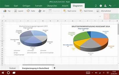 Excel Touch Angetestet Tabellenkalkulation Microsoft Tablet Dem