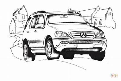 Mercedes Coloring Benz Class Pages Printable Cars