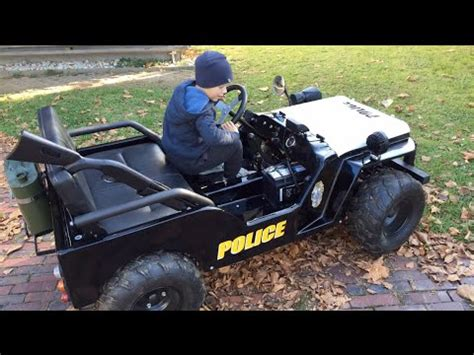 kids gas jeep little heroes police jeep for kids children motor jeep