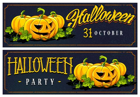 Free halloween banner vector download in ai, svg, eps and cdr. Halloween Web Banners Vector Designs - Download Free ...