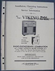 Eaton U0026 39 S Vintage Viking Radio Phonograph Model 51