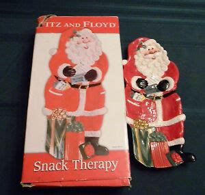foto de Fitz and Floyd Snack Therapy Santa Claus Snack Tray