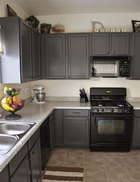 grey and black kitchen cabinets kitchen design with minimalist corner charcoal gray 6950