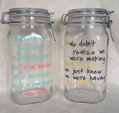 jar ideas memory jars diy pinterest