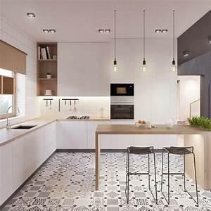 les meilleurs modeles de cuisines modernes pour 2017 With couleur mur salon tendance 14 cuisine bois et noir cuisines en bois cuisines et modles