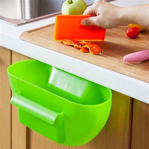 plastic storage boxes for kitchen cupboards plastic kitchen garbage storage box desktop cabinet 9142