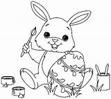 Bunny Easter Coloring Pages sketch template