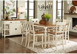 White 5 Pc Counter Height Dining Room From Dining Room Sets Furniture View All Contemporary Dining Room Traditional Dining Room Dining Room Furniture Modern Sets Coco White Buy Hillsdale Hamptons 5 Piece Round Dining Room Set In Weathered Pine