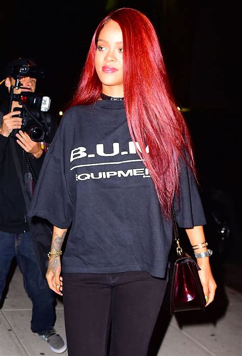Omg — Rihannas Bright Red Hair Is Back Mtv