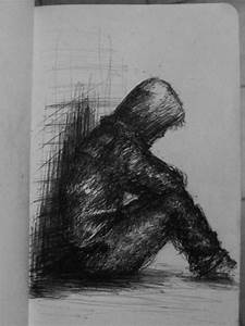 Small Drawing Lonely Guy by riptide by tallinriptide ...