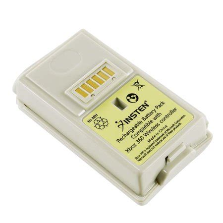 insten rechargeable controller battery pack white  packs