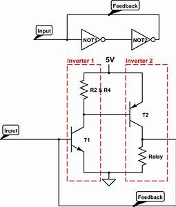 why do all transistor latch circuits that ive seen use With circuit on off latch circuit