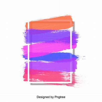 Abstract Watercolor Colorful Frame Clipart Transparent Backgrounds