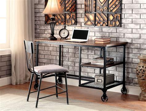 chaise de bureau vintage furniture of america stecker industrial metal frame desk