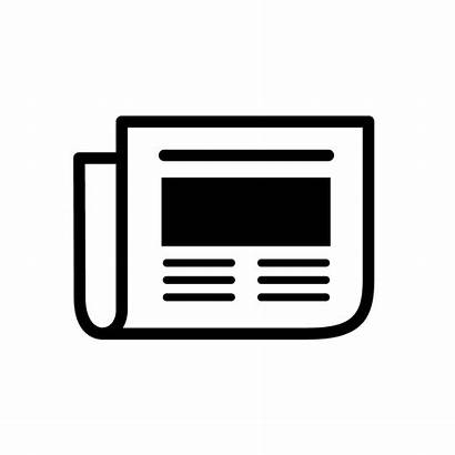 Icon Newspaper Vector Press Transparent Happening Icons