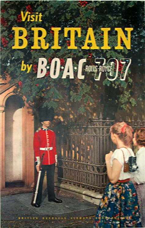 Original vintage poster: Britain by BOAC for sale at ...
