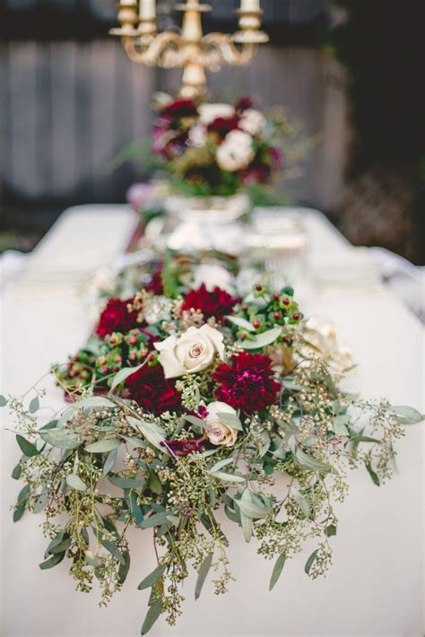 marsala gold romance winter wedding