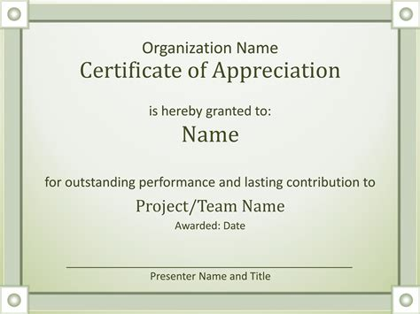 certificate  appreciation templates certificate