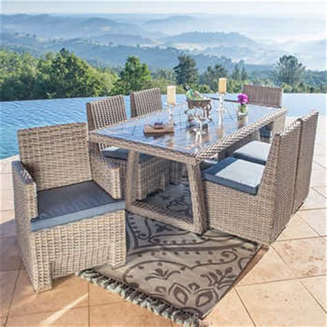 niko 7 patio dining set in slate by sirio