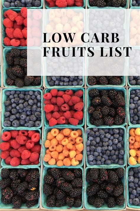 carb fruits list  ultimate guide  keto fruits